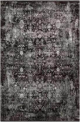 SOR2310-35 3' x 5' Rug  in Black and Charcoal and Medium Gray and Light