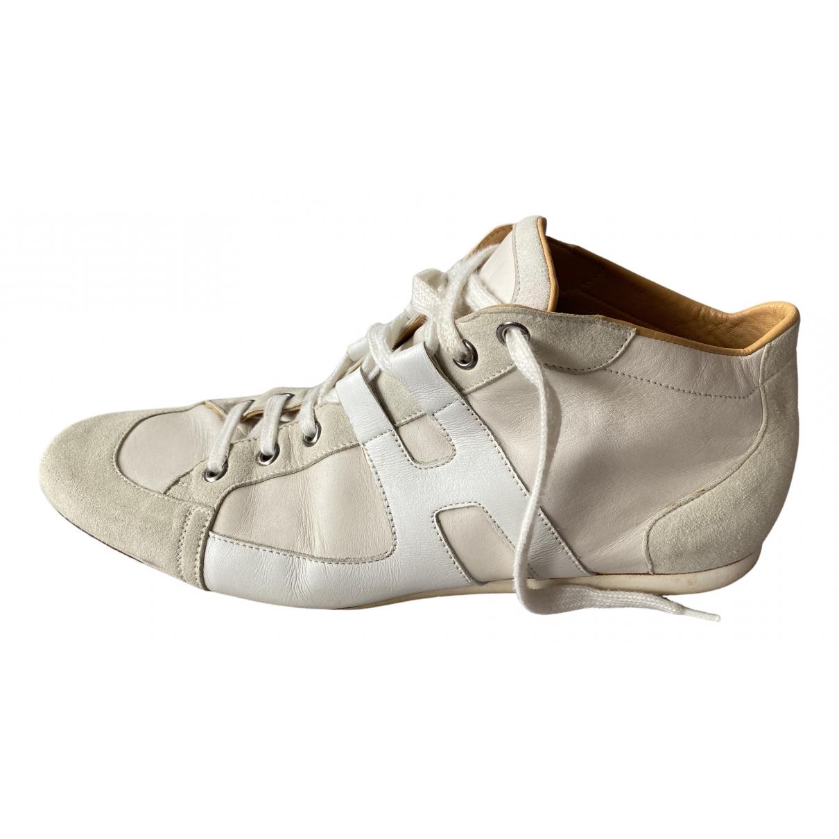 Hermes - Baskets   pour homme en cuir - blanc