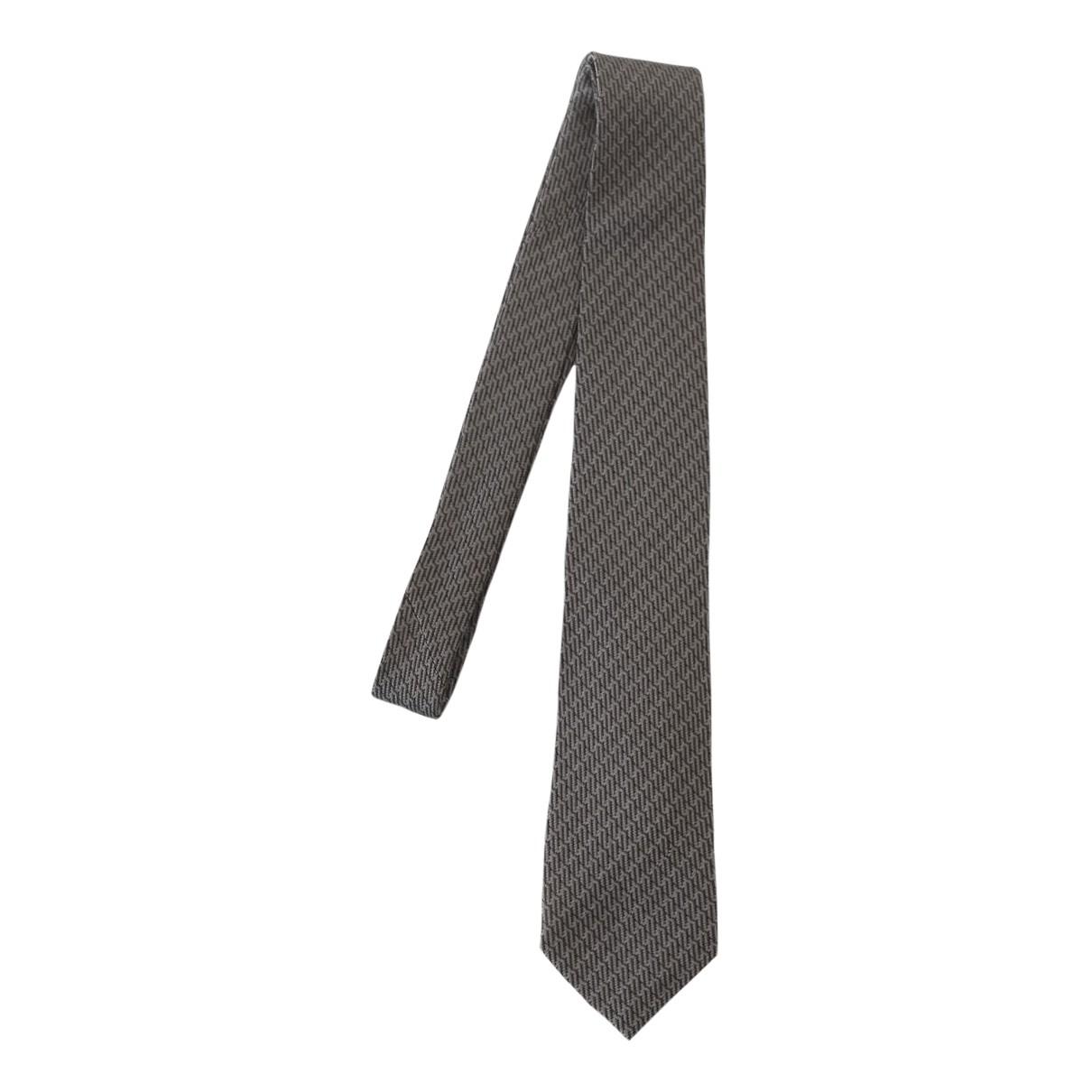 Emporio Armani \N Grey Silk Ties for Men \N