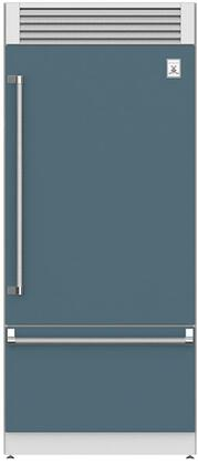 KRPR36GG 36 Built-In Pro-Style Right Hinge Bottom Mount Refrigerator with Top Mount Compressor  EvenFlow Air Circulating Technology  Dual Variable
