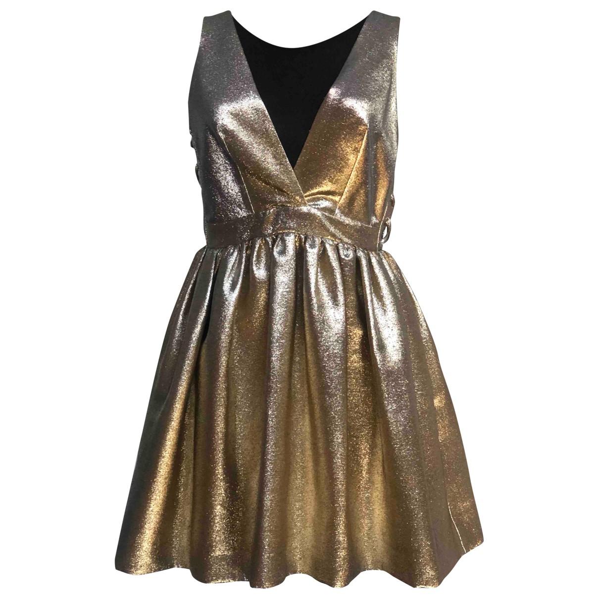 Sandro \N Kleid in  Gold Baumwolle