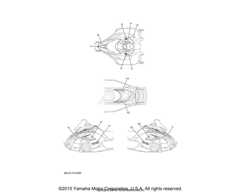 Yamaha OEM 8GL-7711E-70-00 GRAPHIC 5