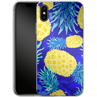 Apple iPhone X Silikon Handyhuelle - Pineapple Crush von Mukta Lata Barua