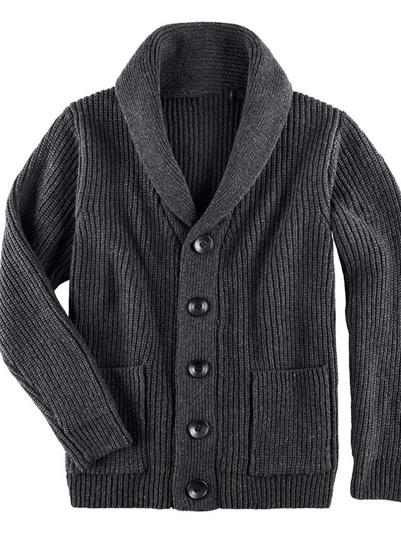 Ericdress Lapel Standard Plain Fall Loose Sweater