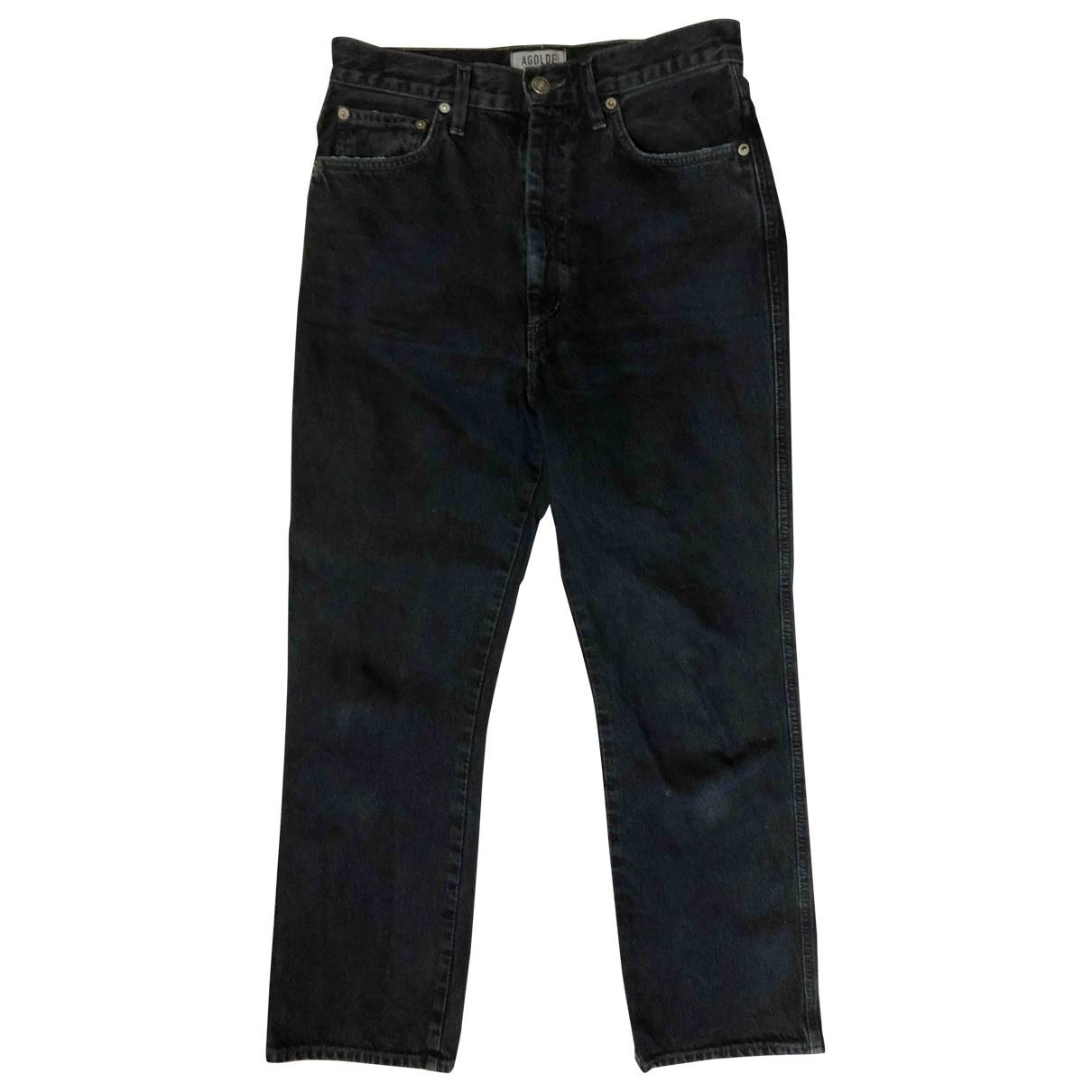 Agolde \N Black Cotton Jeans for Women 28 US