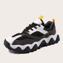 Men Lace-up Front Wide Fit Sneakers