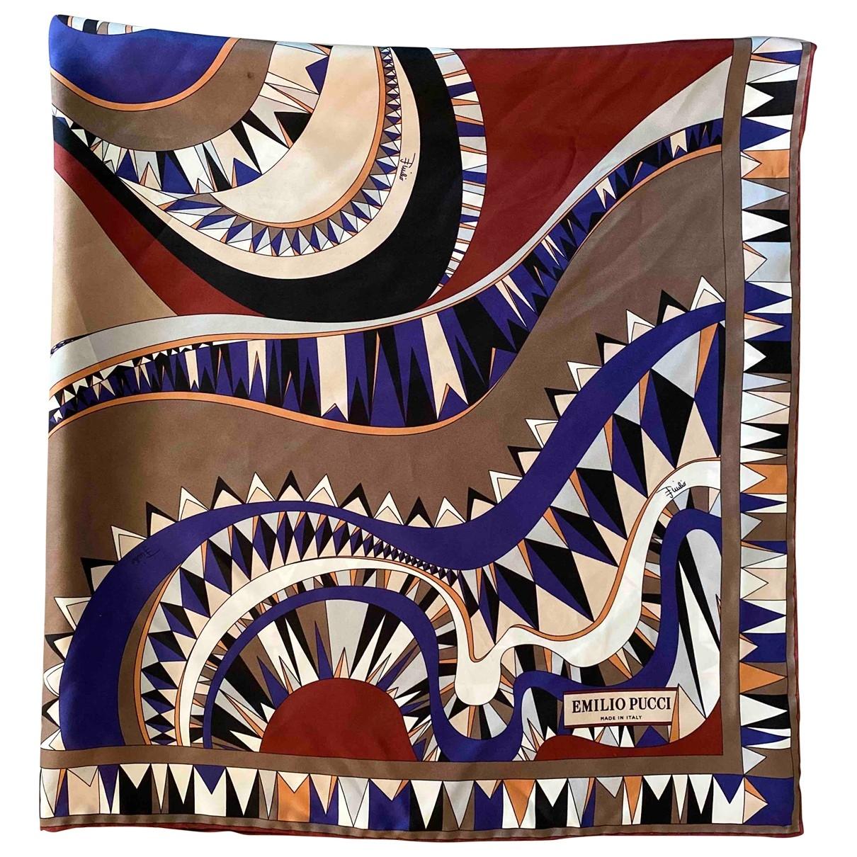 Emilio Pucci \N Burgundy Silk Silk handkerchief for Women \N