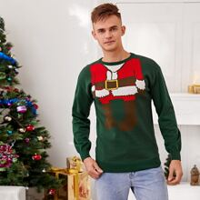 Guys Christmas Pattern Crew Neck Sweater