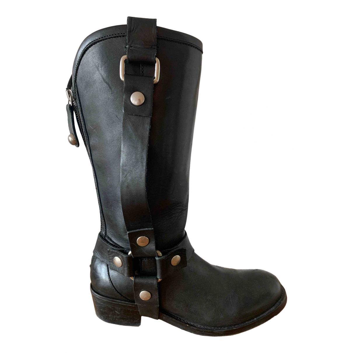 Just Cavalli - Bottes   pour femme en cuir - noir