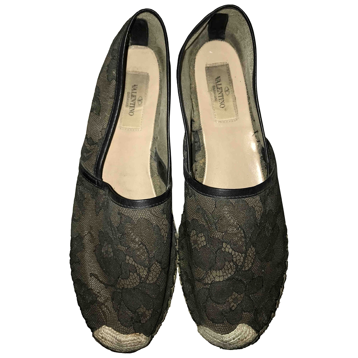 Valentino Garavani \N Black Cloth Espadrilles for Women 39 EU