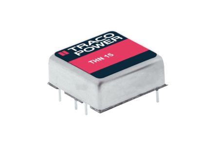 TRACOPOWER THN 15 15W Isolated DC-DC Converter Through Hole, Voltage in 9 → 18 V dc, Voltage out 15V dc