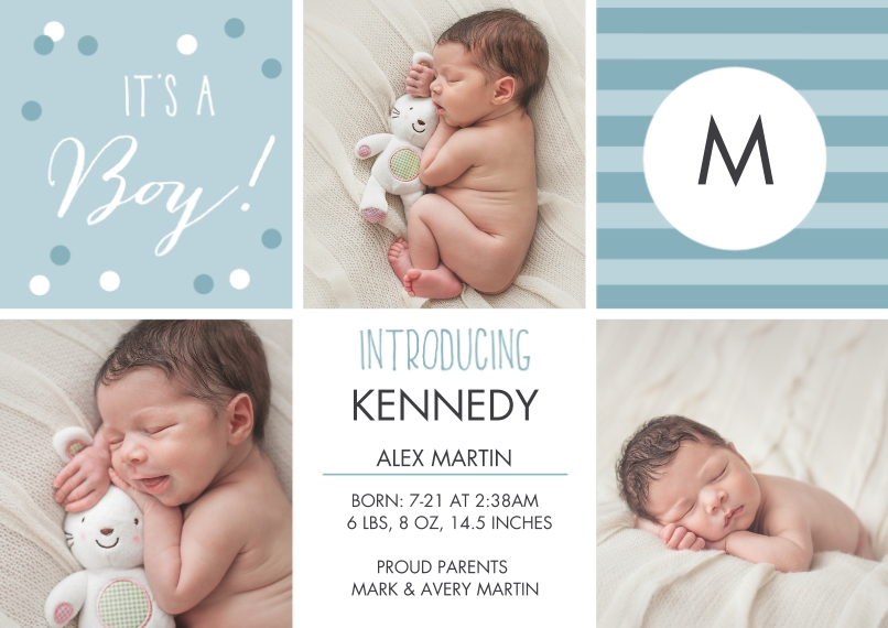 Newborn 5x7 Cards, Premium Cardstock 120lb with Elegant Corners, Card & Stationery -What A Doll! Announcement