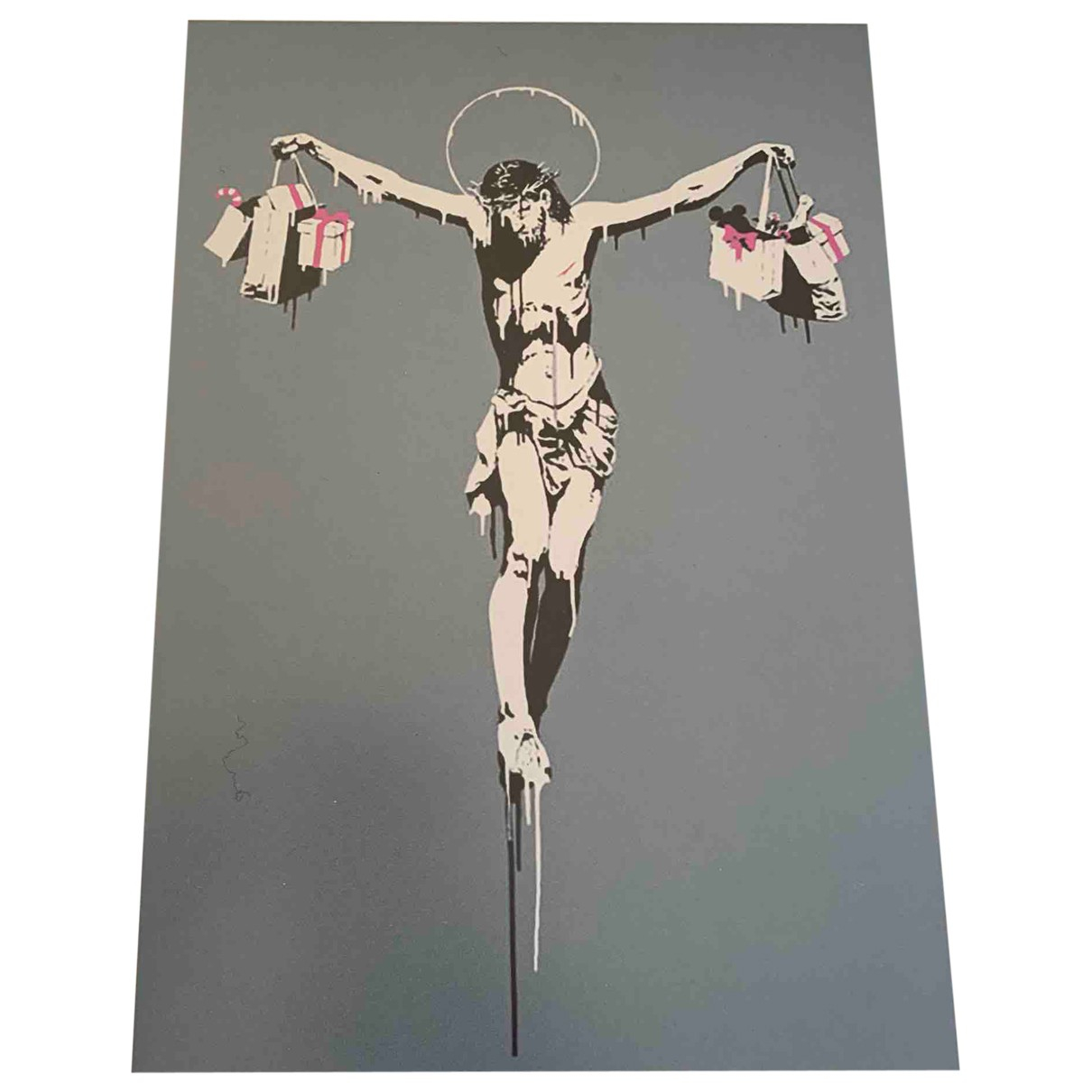 Banksy \N Kunst in  Grau Baumwolle
