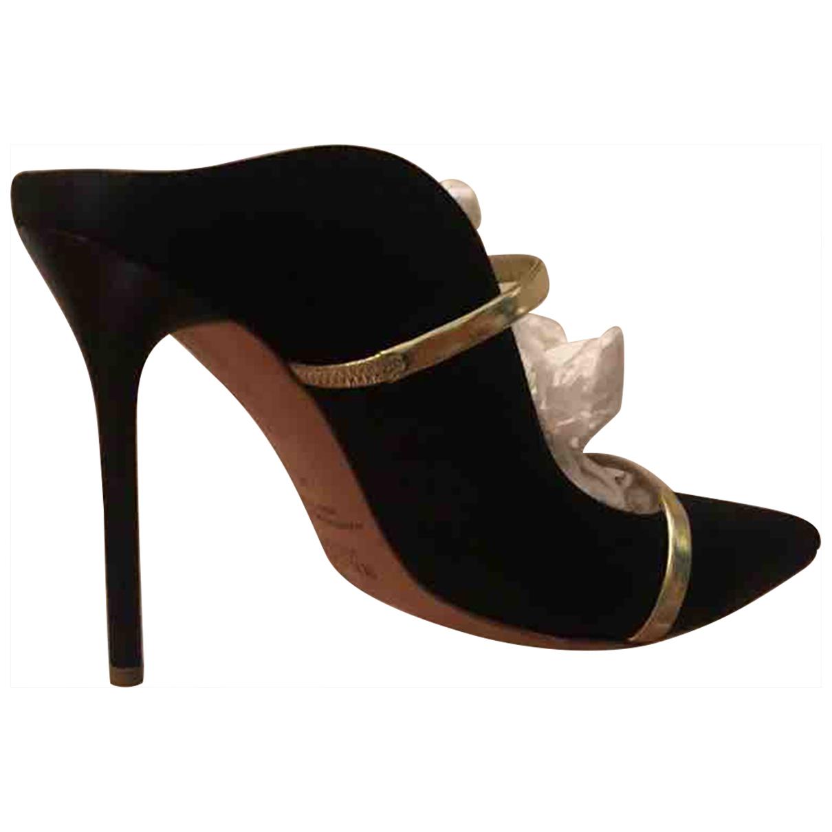 Malone Souliers Maureen Black Cloth Heels for Women 40 EU