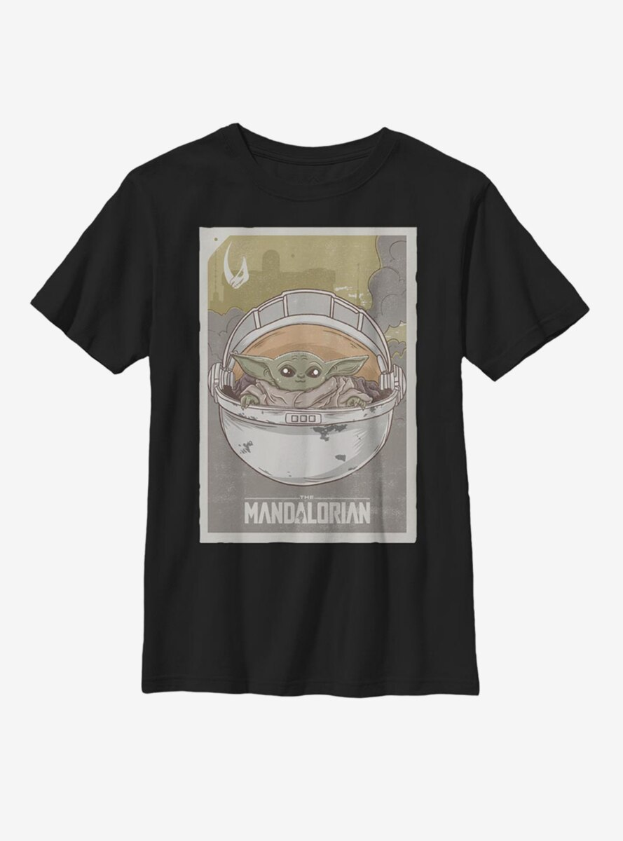Star Wars The Mandalorian The Child Vintage Poster Youth T-Shirt
