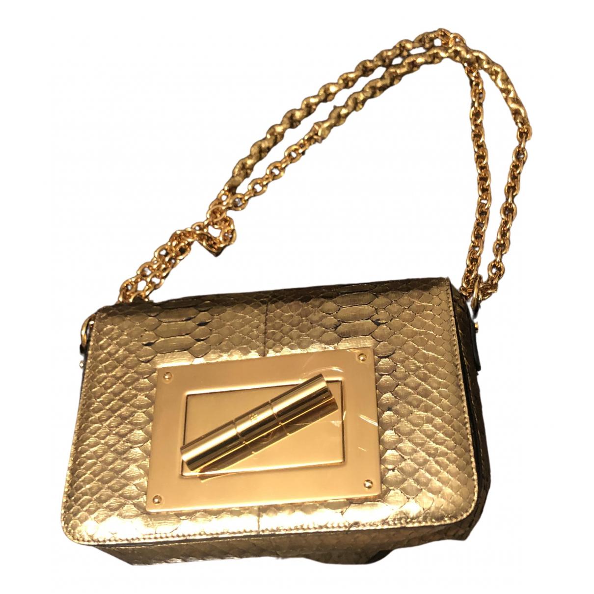 Tom Ford \N Handtasche in  Gold Python