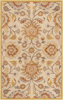 CAE1211-58 5' x 8' Rug  in Khaki and Mustard and Charcoal and Burnt Orange and Light Gray and Camel and Dark Brown and