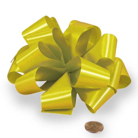 Daffodil Yellow Satin Notched Hank Bow 5