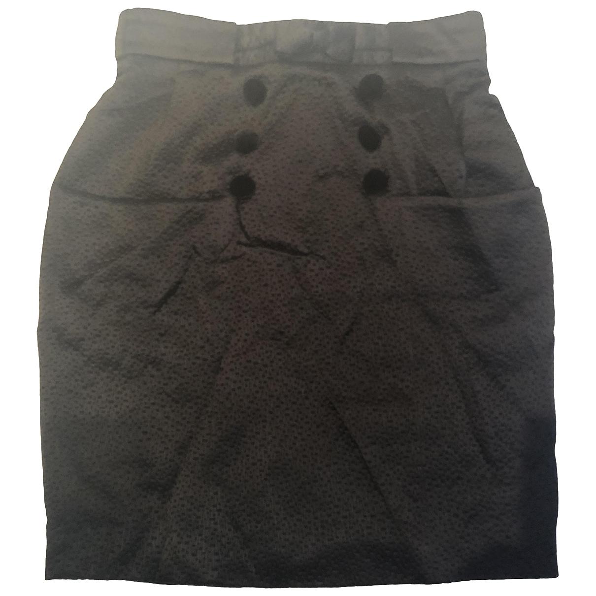 Erdem \N Black Silk skirt for Women 42 IT