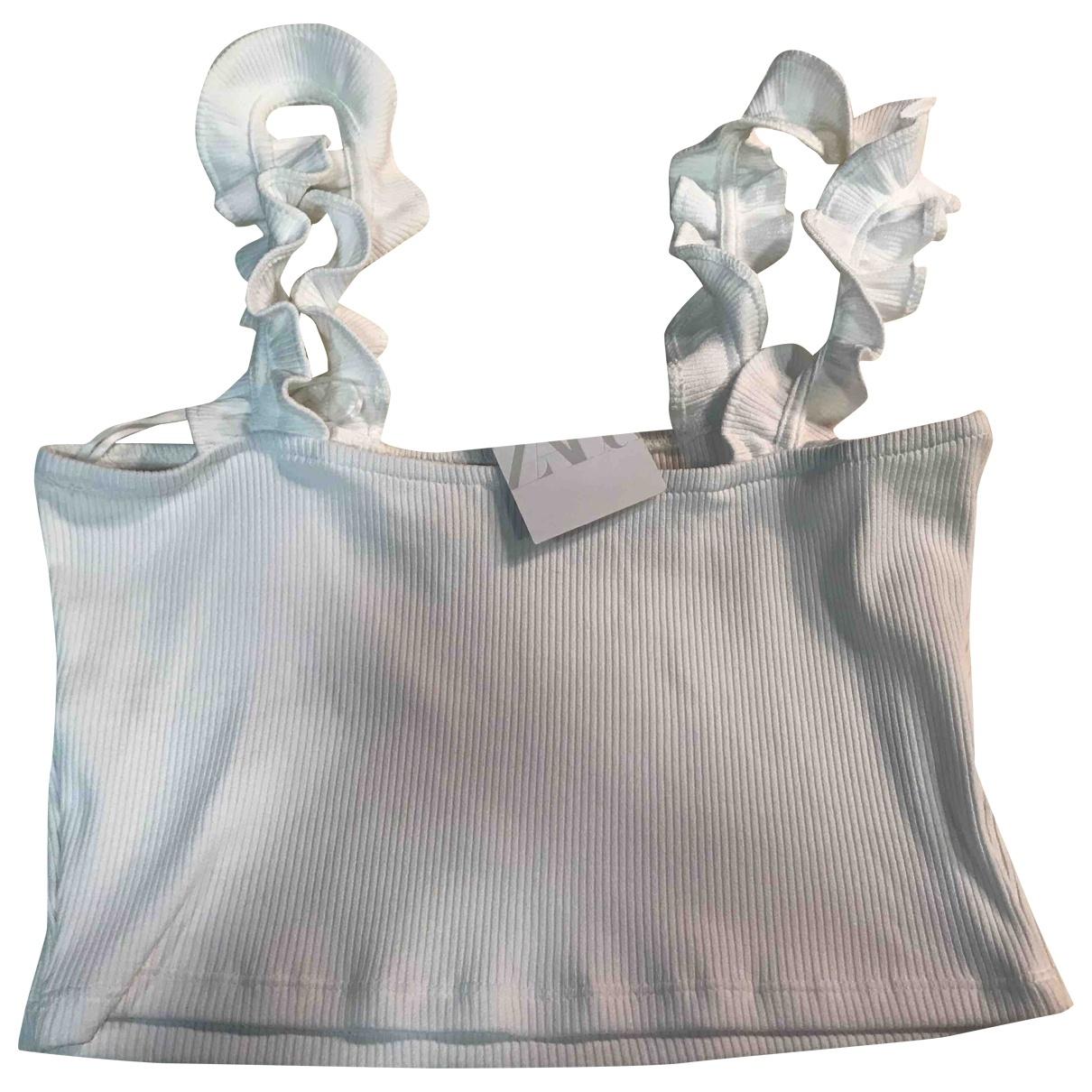 Zara \N Top in  Weiss Polyester