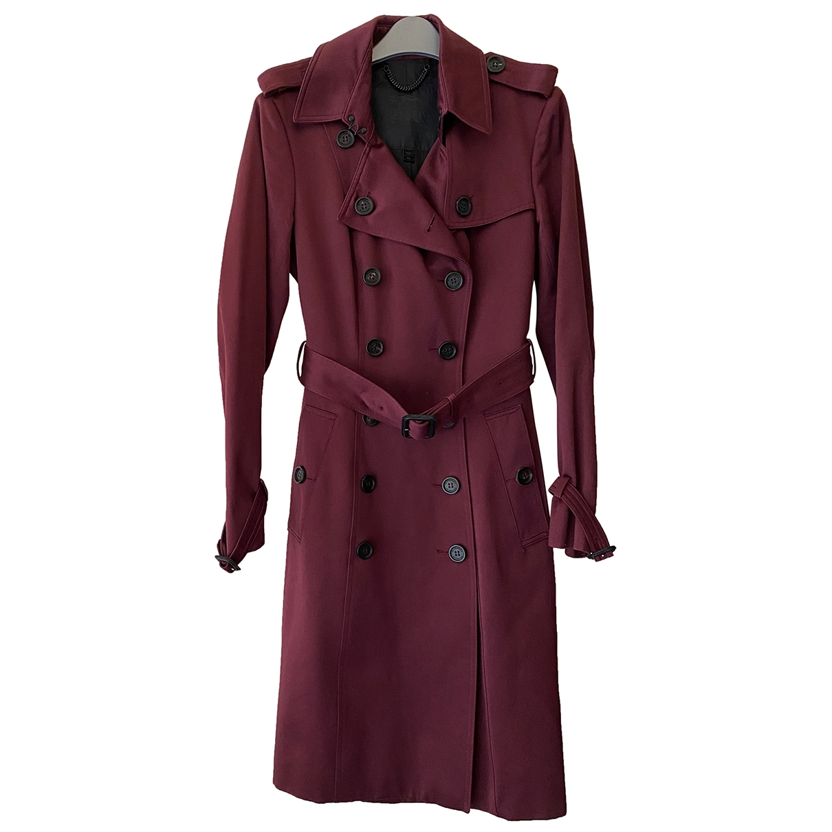 Burberry \N Burgundy Cotton Trench coat for Women 42 IT