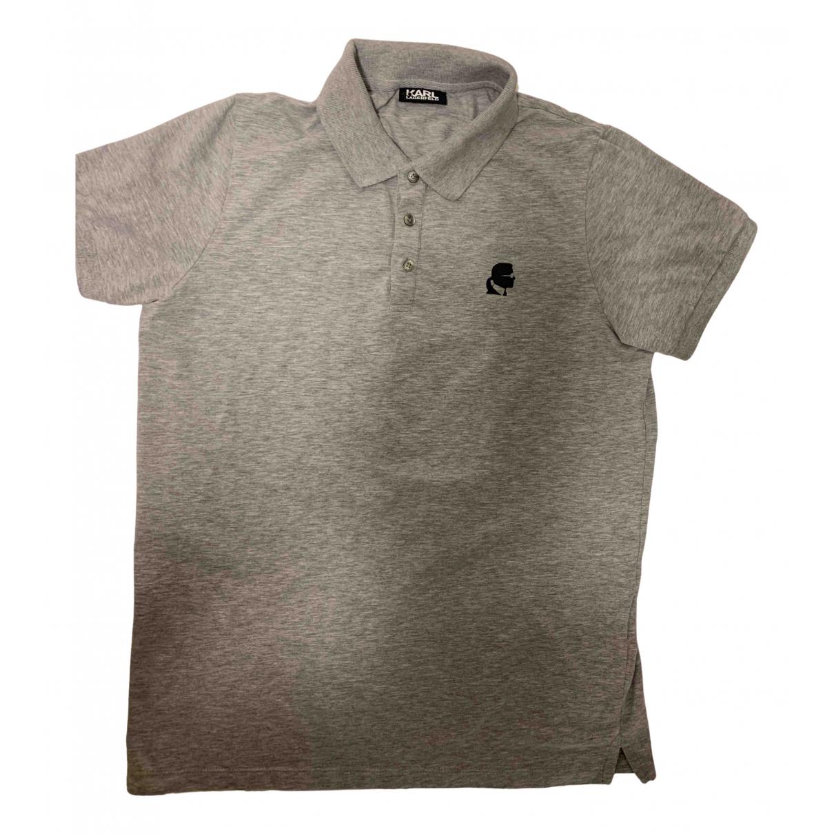 Karl Lagerfeld - Polos   pour homme en coton - gris