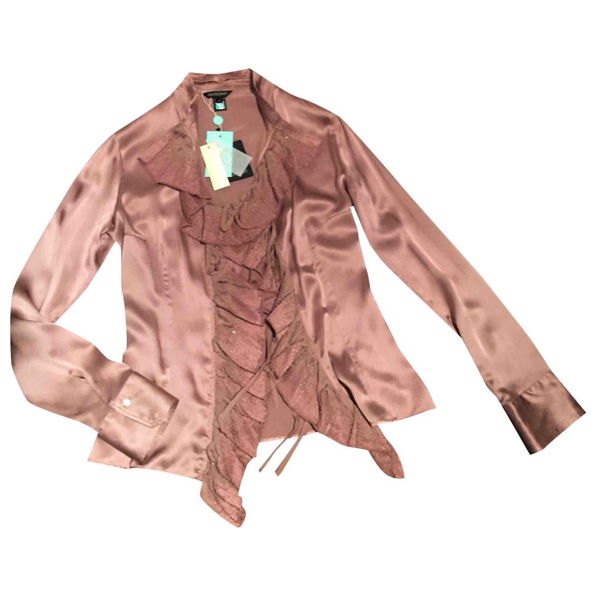 Roberto Cavalli - Top   pour femme en soie - rose