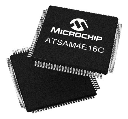 Microchip ATSAM4E16CA-AU, 32bit ARM Cortex M4 Microcontroller, SAM4E, 120MHz, 1.024 MB Flash, 100-Pin LQFP