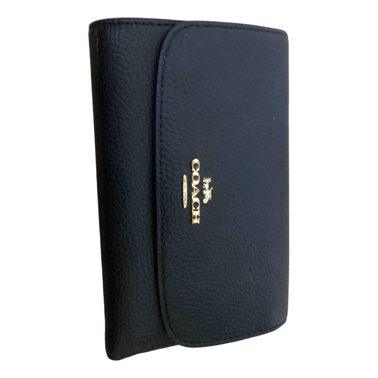 Coach \N Black Leather Purses, wallet & cases for Women \N