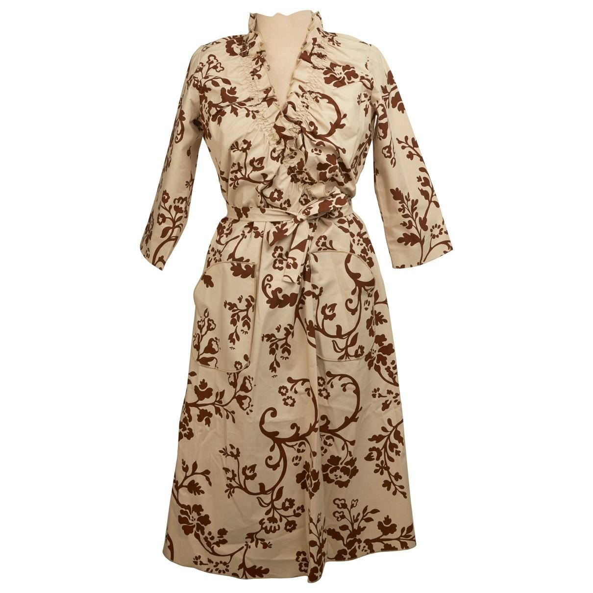 - Robe   pour femme en coton - elasthane - beige