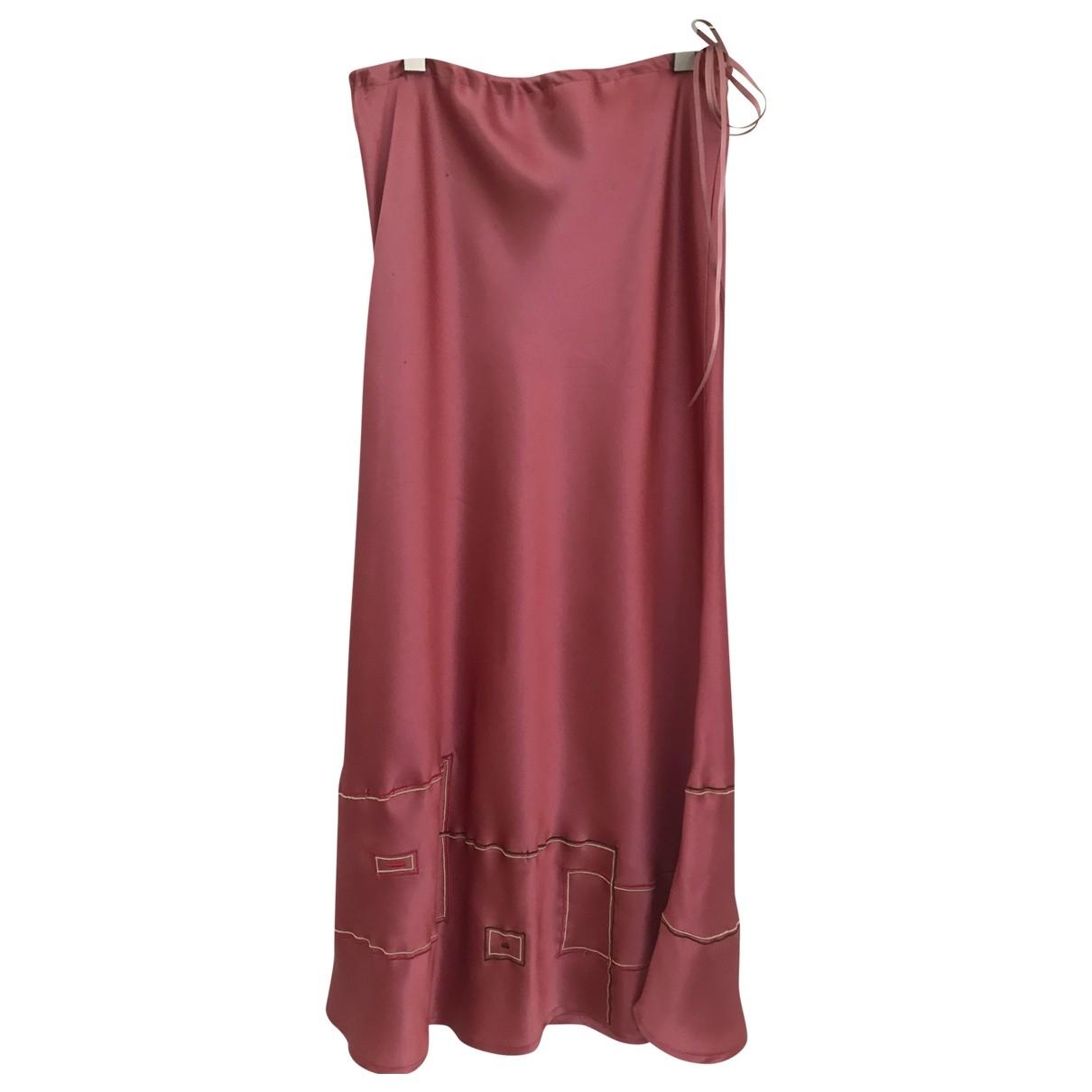 Non Signé / Unsigned \N Pink Silk skirt for Women S International