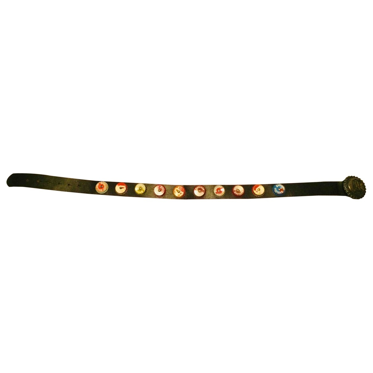 John Galliano \N Black Leather belt for Women 80 cm