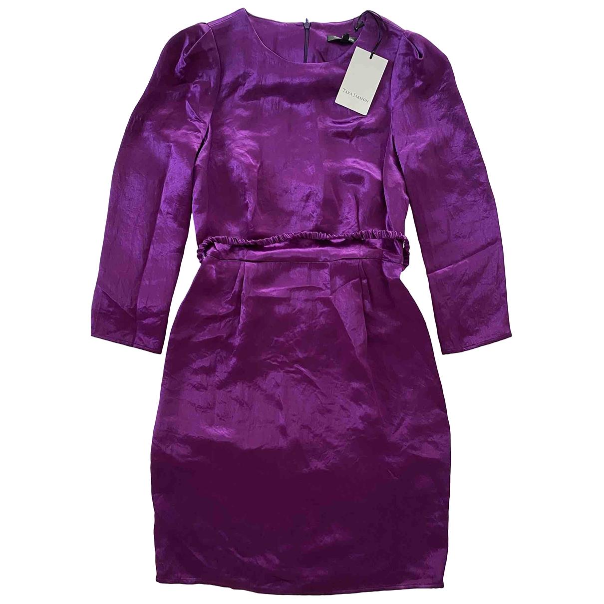 Tara Jarmon \N Kleid in  Lila Seide