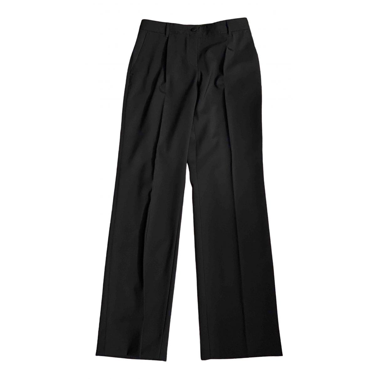 Dolce & Gabbana \N Black Wool Trousers for Women 42 IT