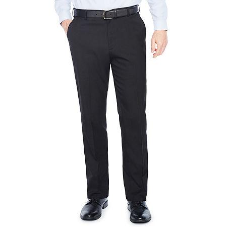 Van Heusen Air Flat-Front Straight-Leg Flex Men's Dress Pants, 38 30, Black