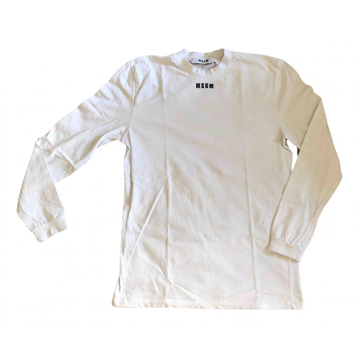 Msgm \N Pullover.Westen.Sweatshirts  in  Weiss Baumwolle