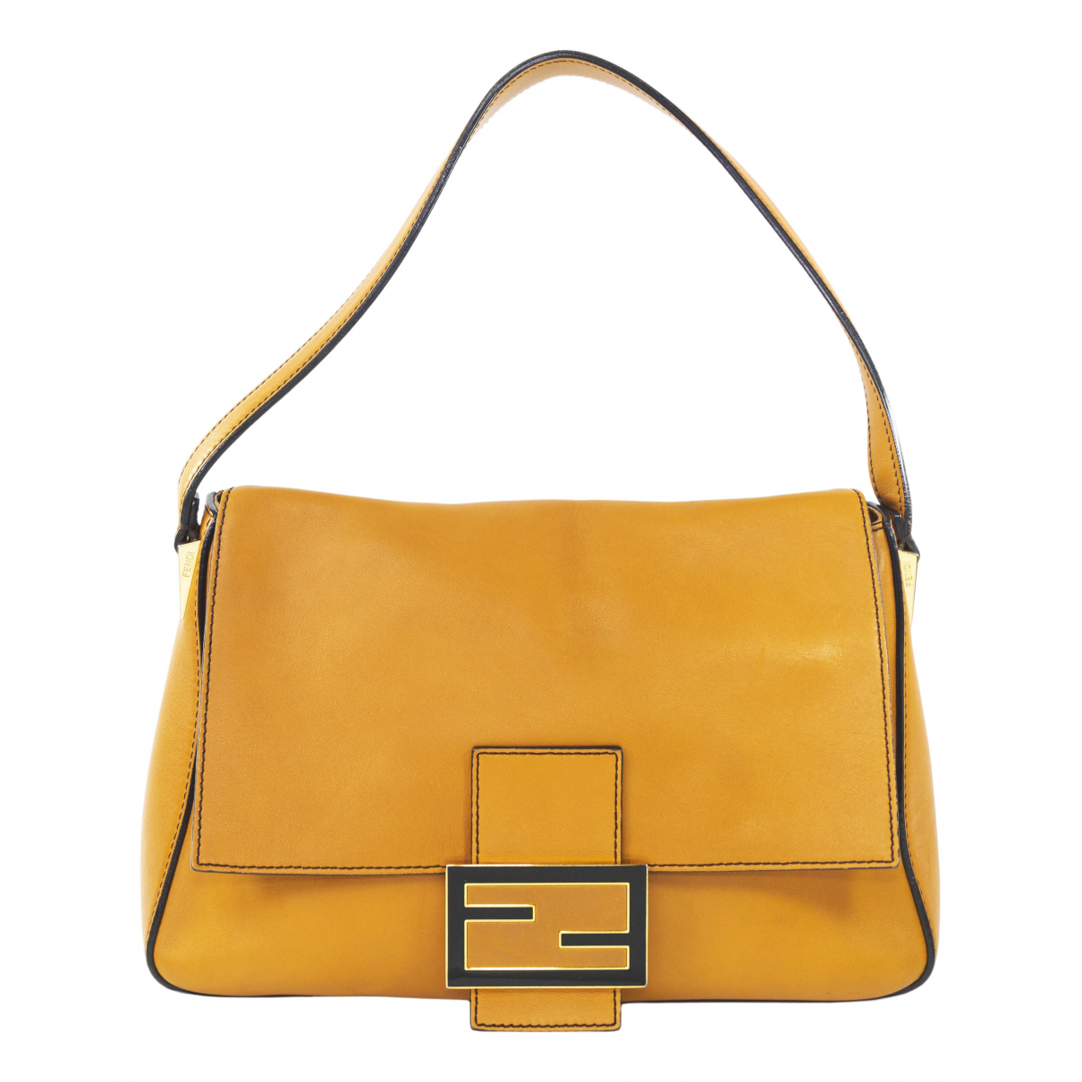 Fendi Mamma Baguette  Handtasche in  Orange Leder