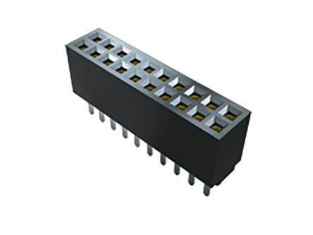 Samtec , SFMC 1.27mm Pitch 10 Way 2 Row Vertical PCB Socket, Through Hole, Solder Termination (85)