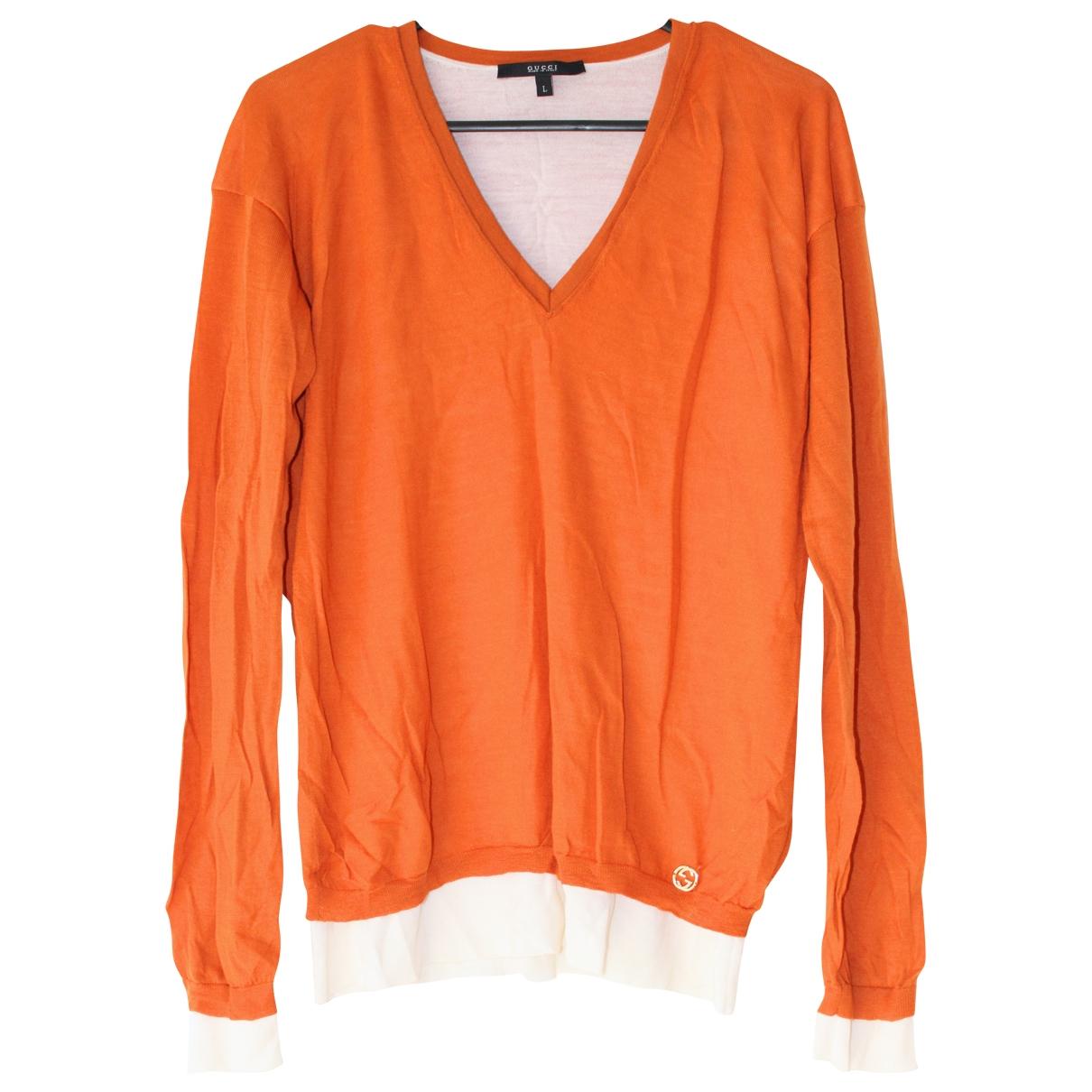 Gucci \N Orange Wool Knitwear for Women L International
