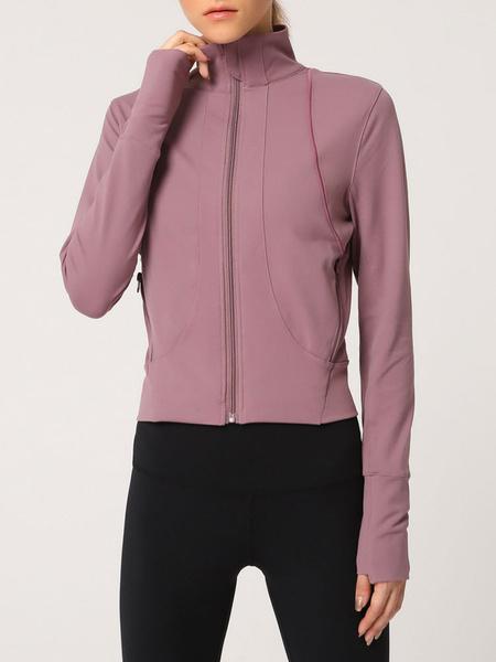 Milanoo Chaquetas de mujer Zipper Casual Field Blush Chaqueta rosa para mujer
