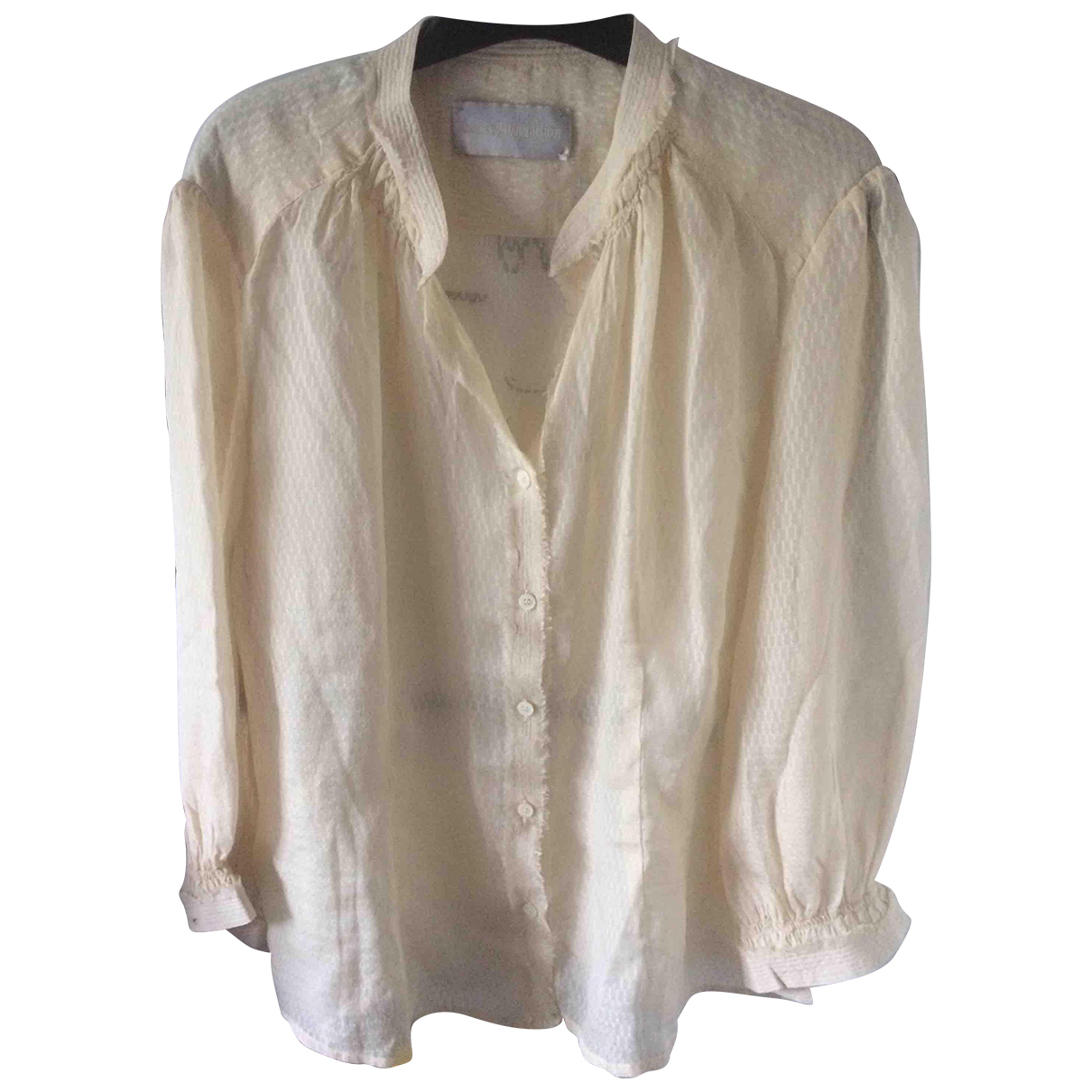 Zadig & Voltaire \N Beige Silk  top for Women 38 FR