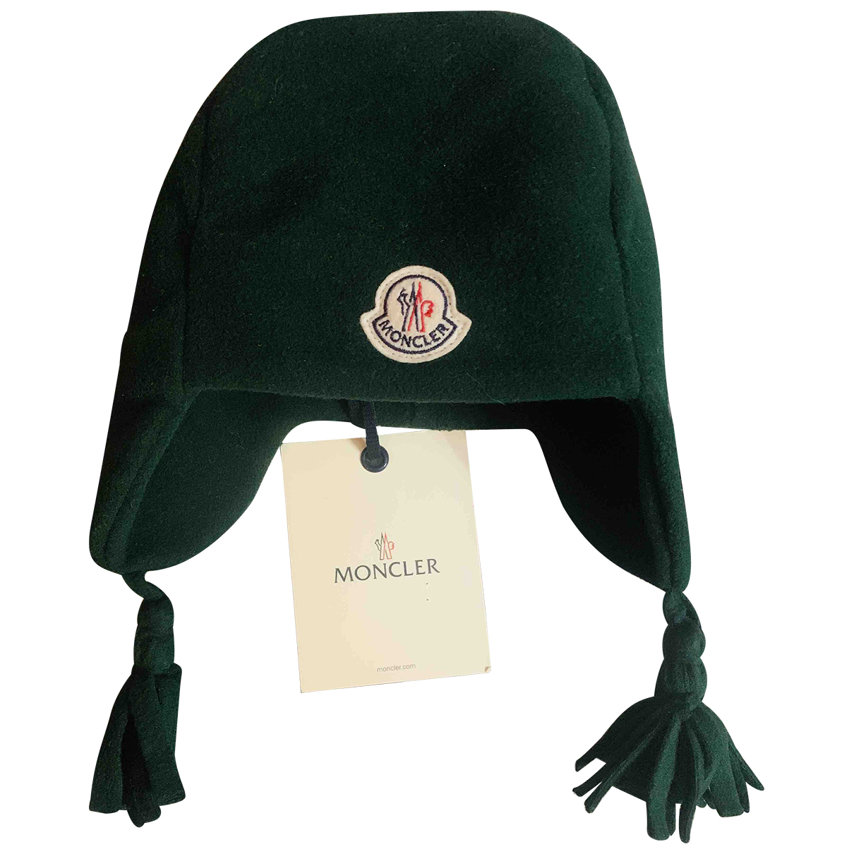 Moncler \N Hut, Muetzen, Handschuhe in  Gruen Synthetik