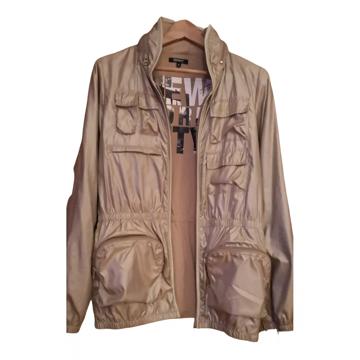 Dkny - Trench   pour femme - dore