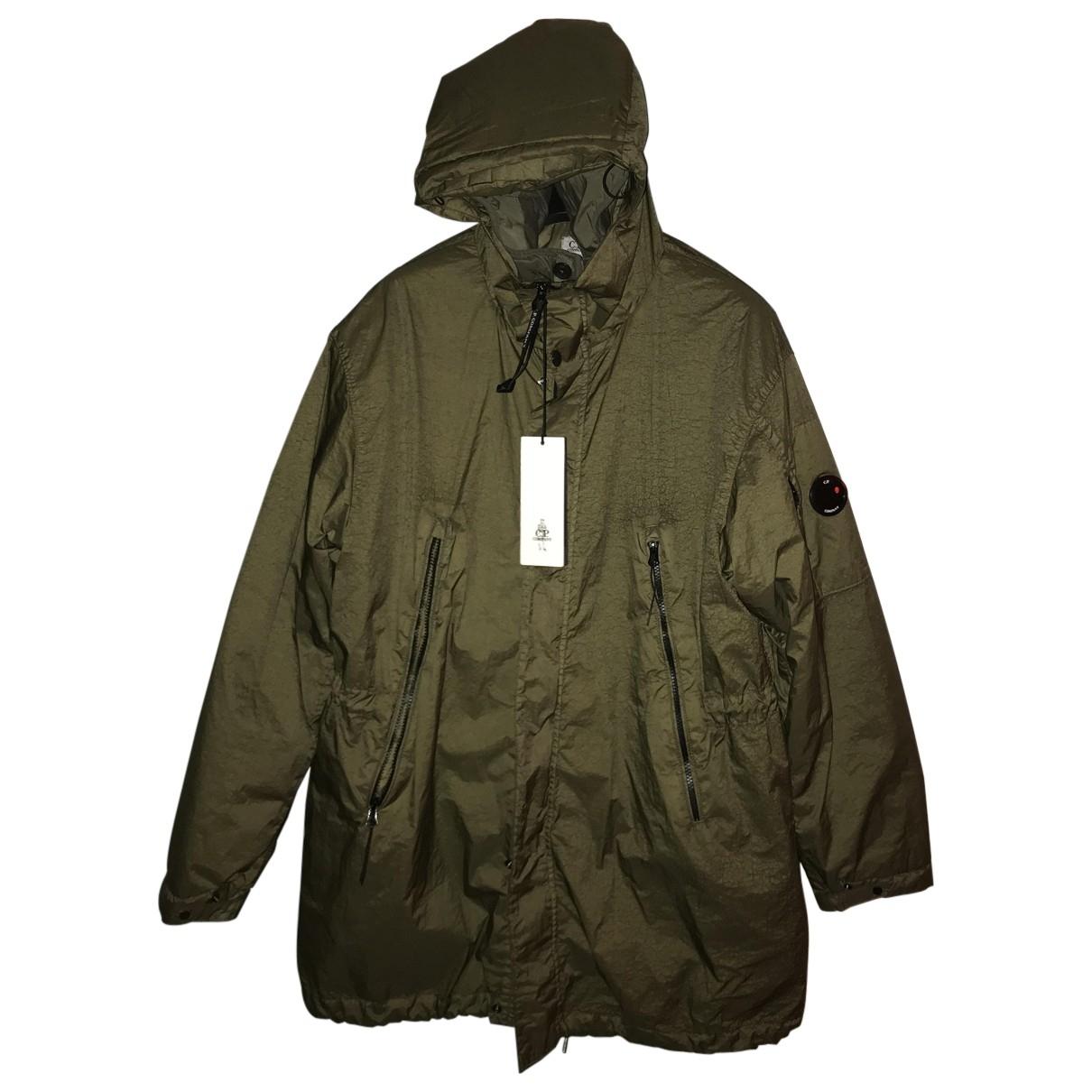 Cp Company - Manteau   pour homme en toile - kaki