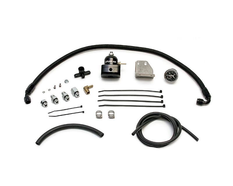 AMS Performance AMS.04.07.0001-1 Black Fuel Pressure Regulator Kit Mitsubishi Ralliart 08-14
