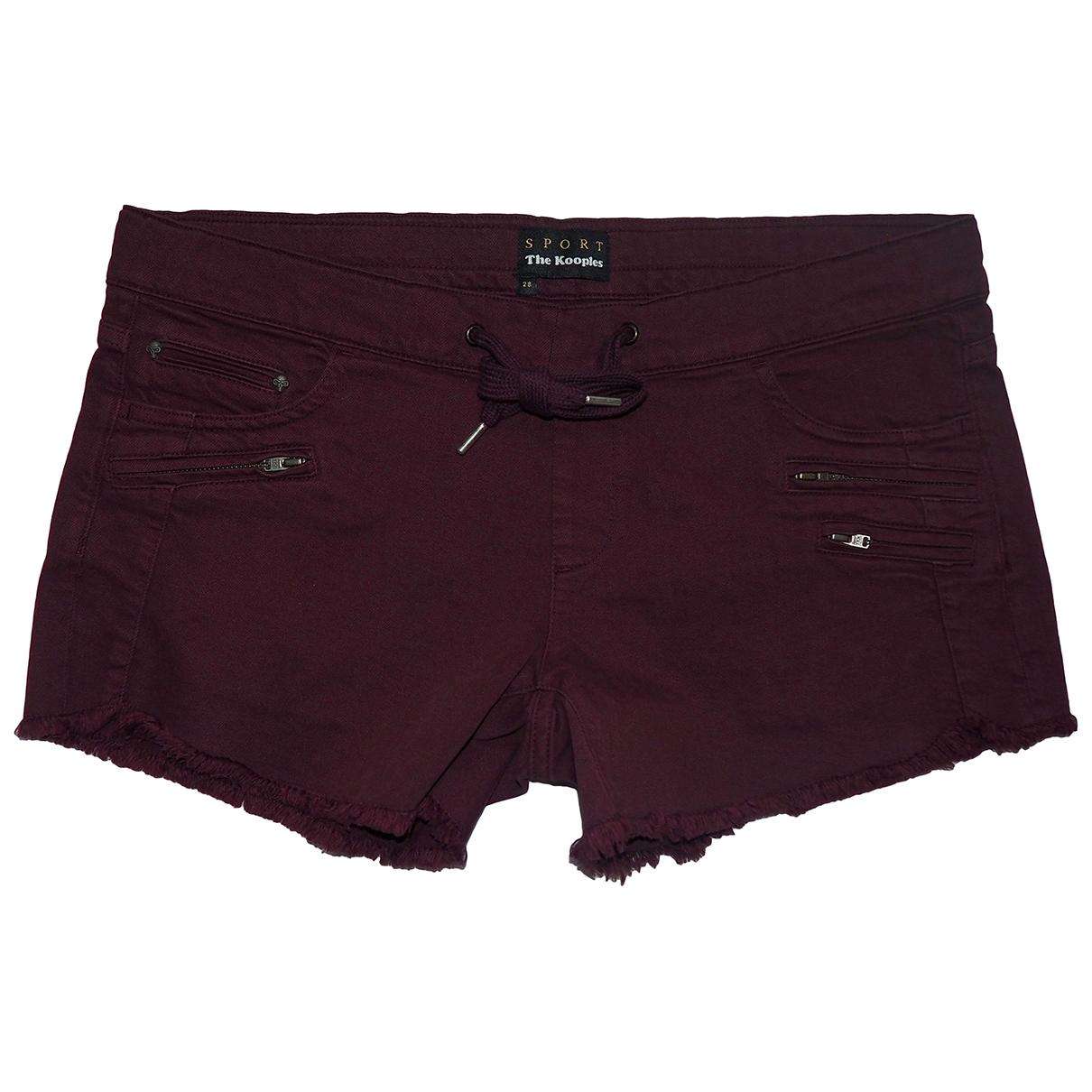 The Kooples \N Burgundy Cotton - elasthane Shorts for Women 38 FR