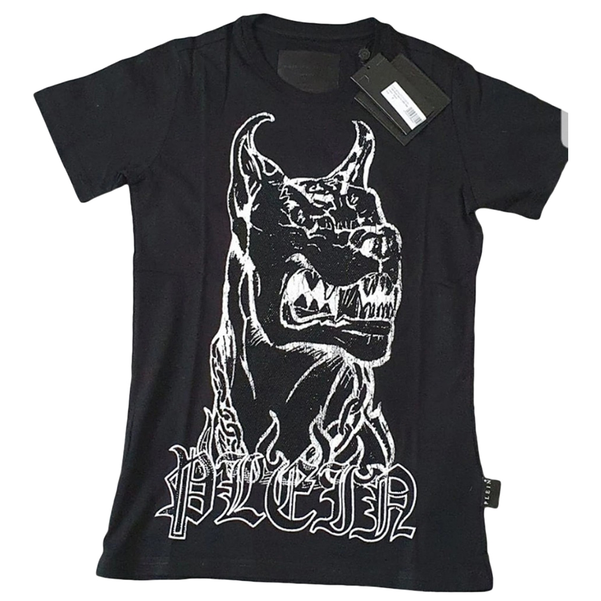 Philipp Plein \N Black Cotton T-shirts for Men S International