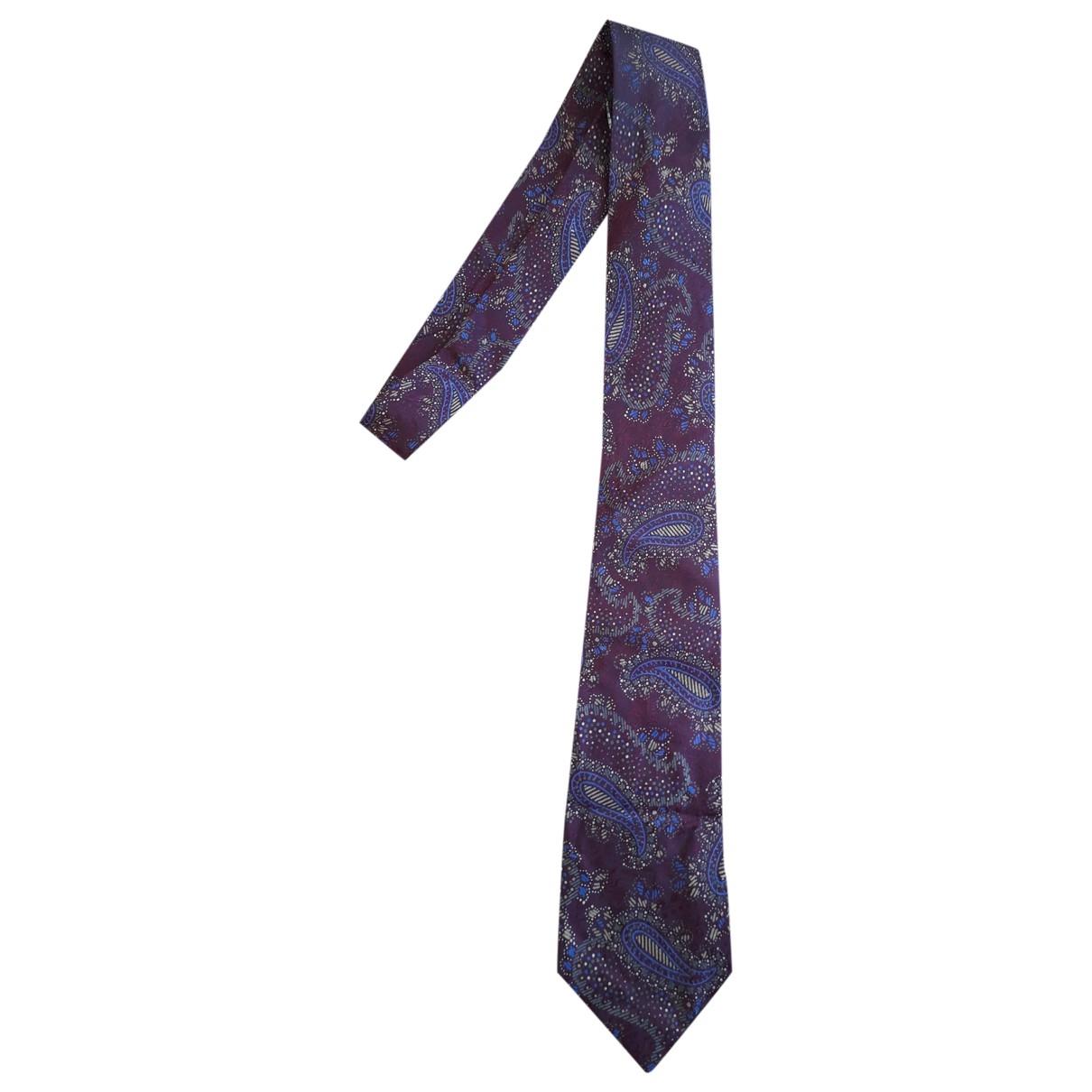 Balenciaga \N Krawatten in  Bordeauxrot Seide