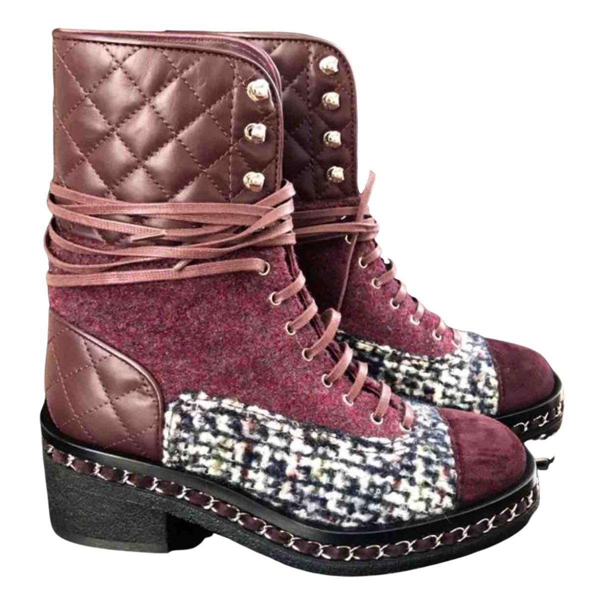 Chanel - Bottes   pour femme en cuir - multicolore
