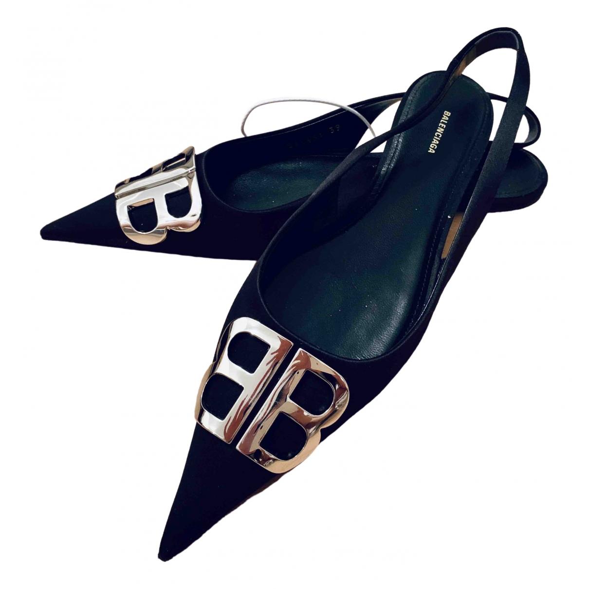 Balenciaga - Sandales BB pour femme - noir